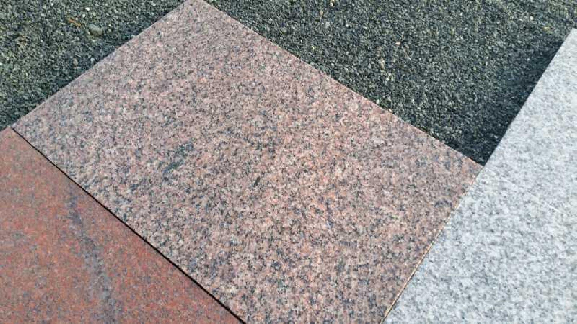 Granitplatten Bovall Rötlich