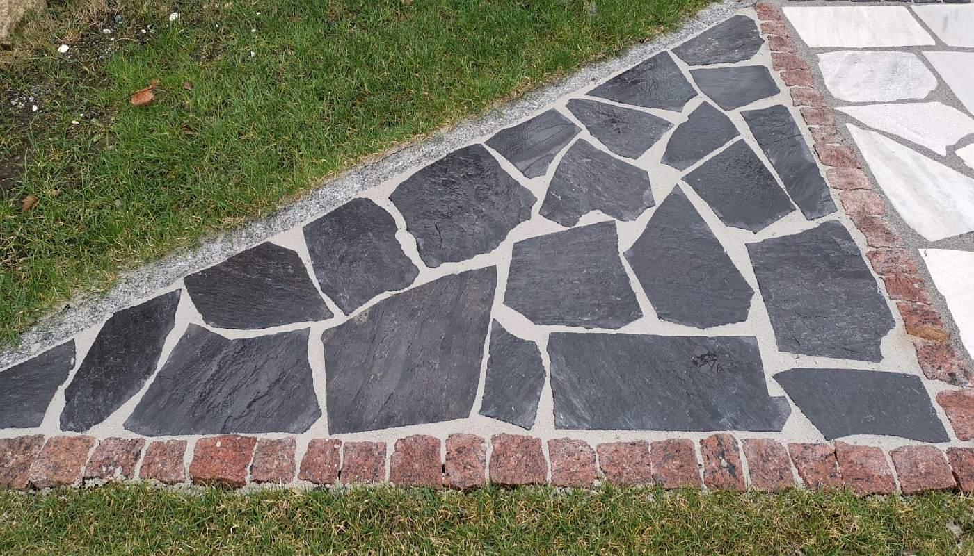 Polygonalplatten Karistou - Anthrazit
