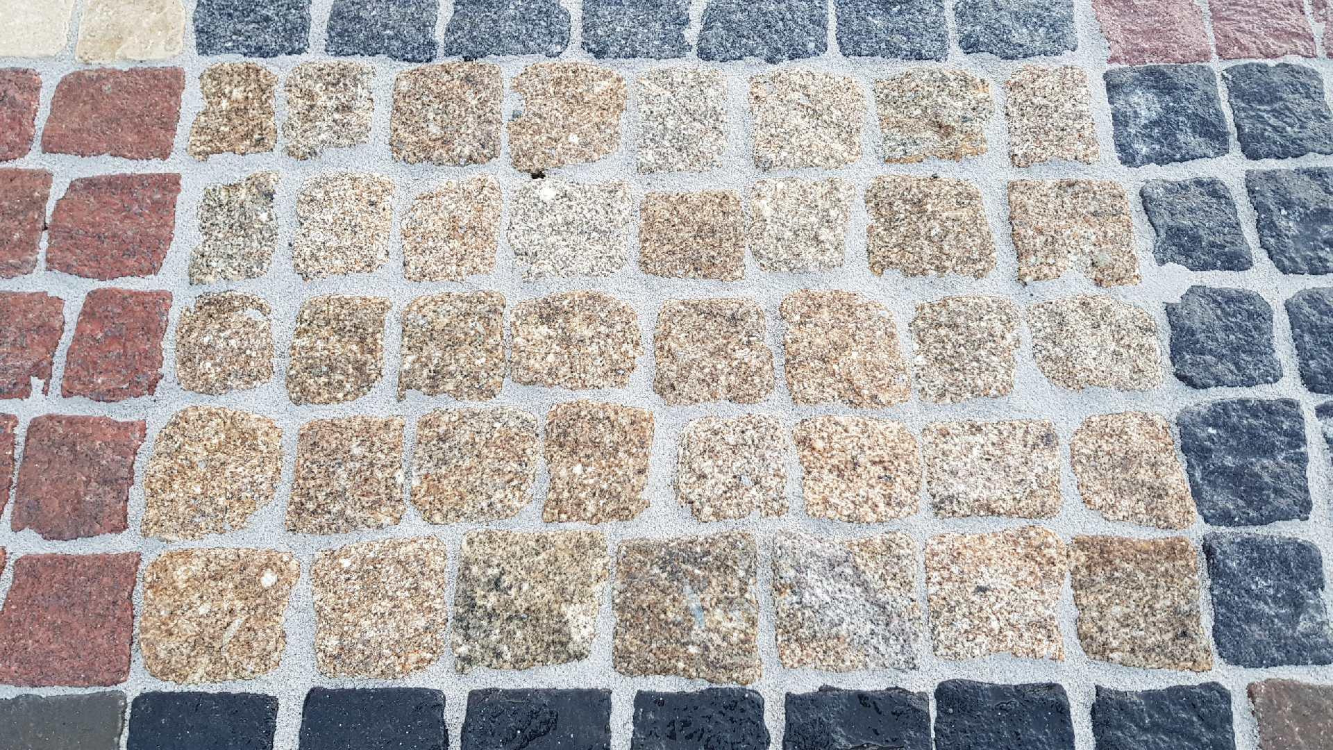Naturstein Pflaster Porto Gelb