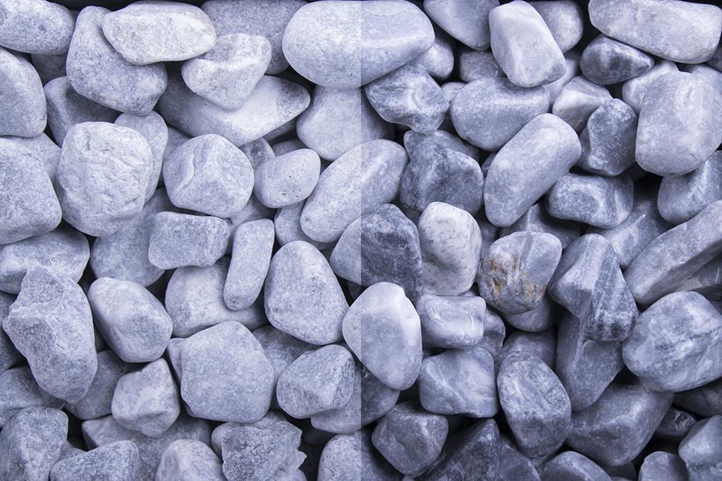 Kristall Blau getrommelt, 40-60