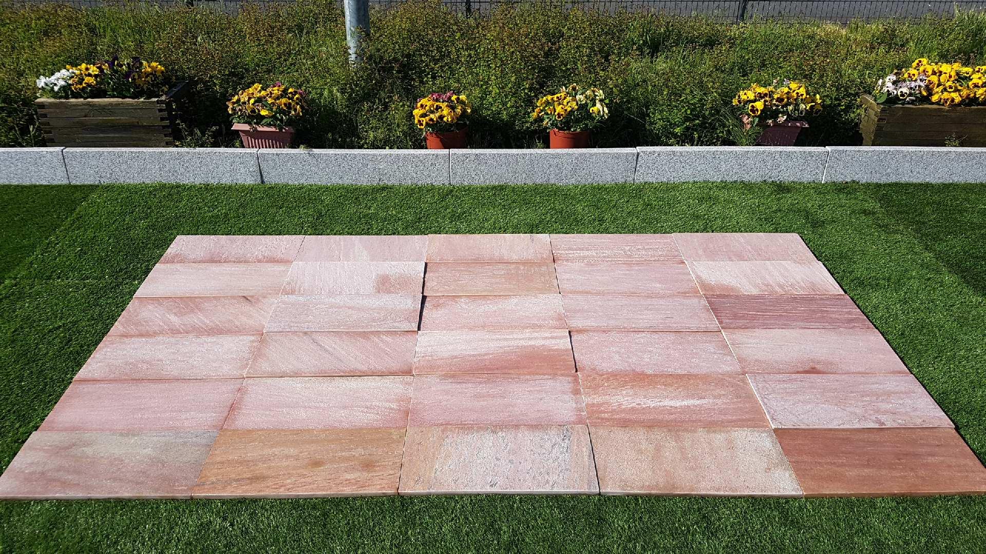 Quarzitplatten Lava Rosa