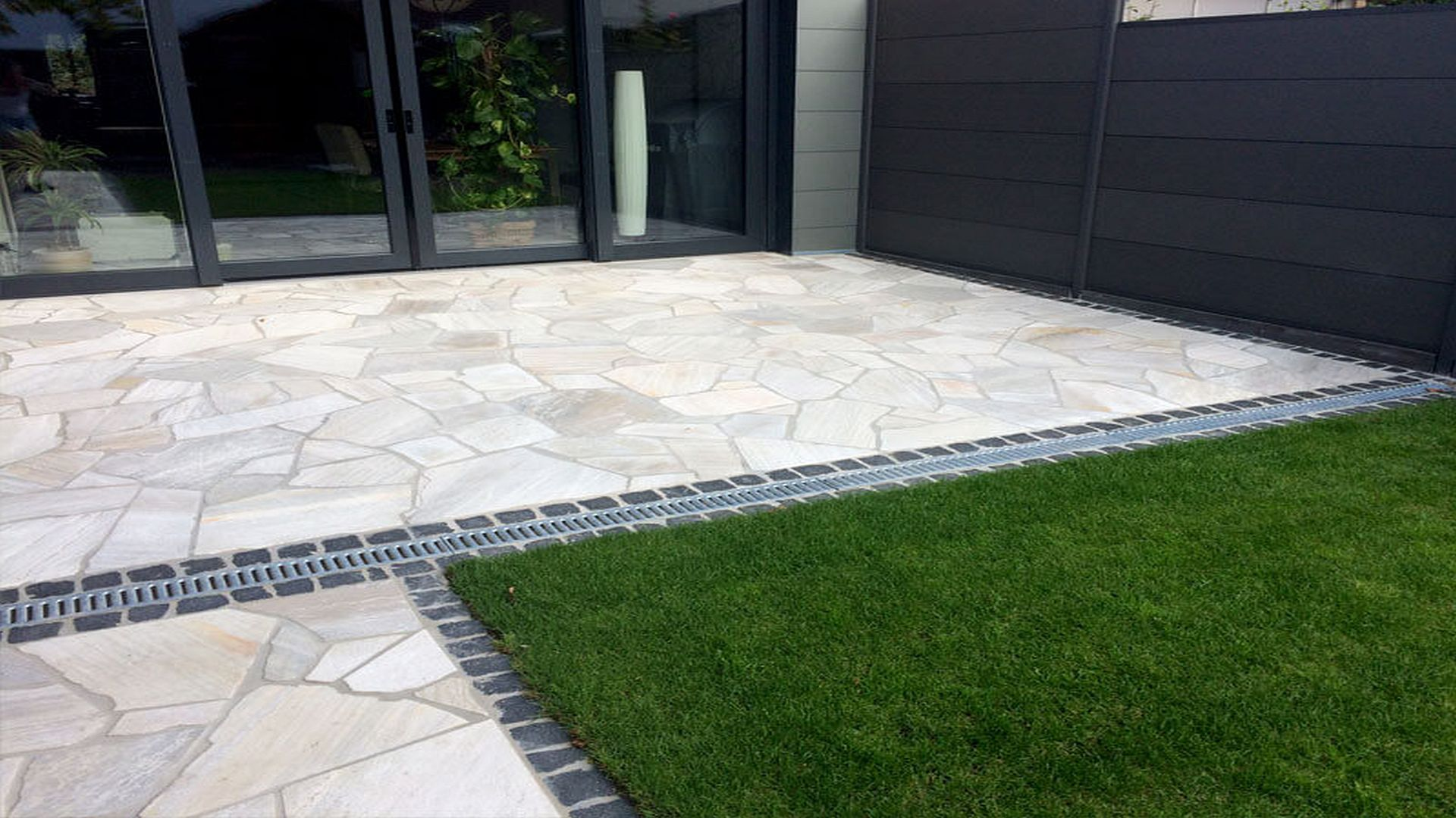 Polygonalplatten Anden - White