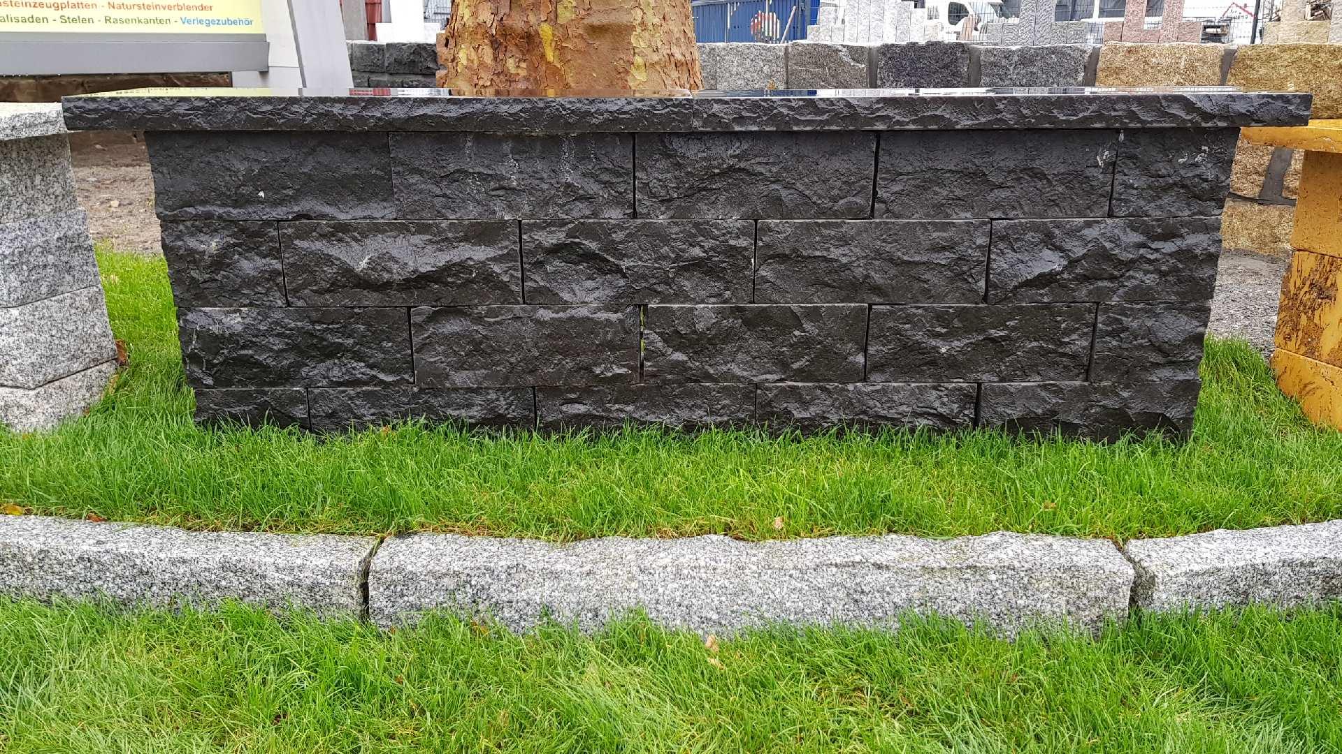 Mauersteine Basalt - Schwarz