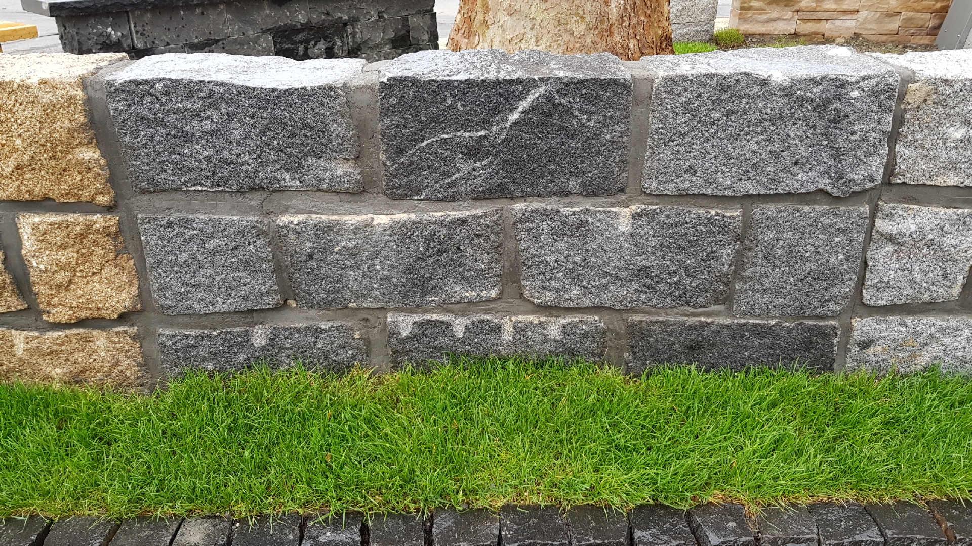 Mauersteine Porto - Black - Granit