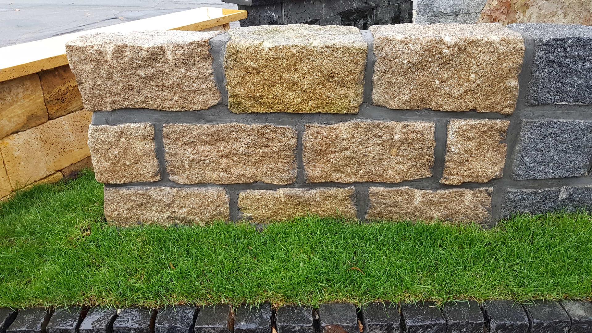 Mauersteine Porto - Gelb - Granit