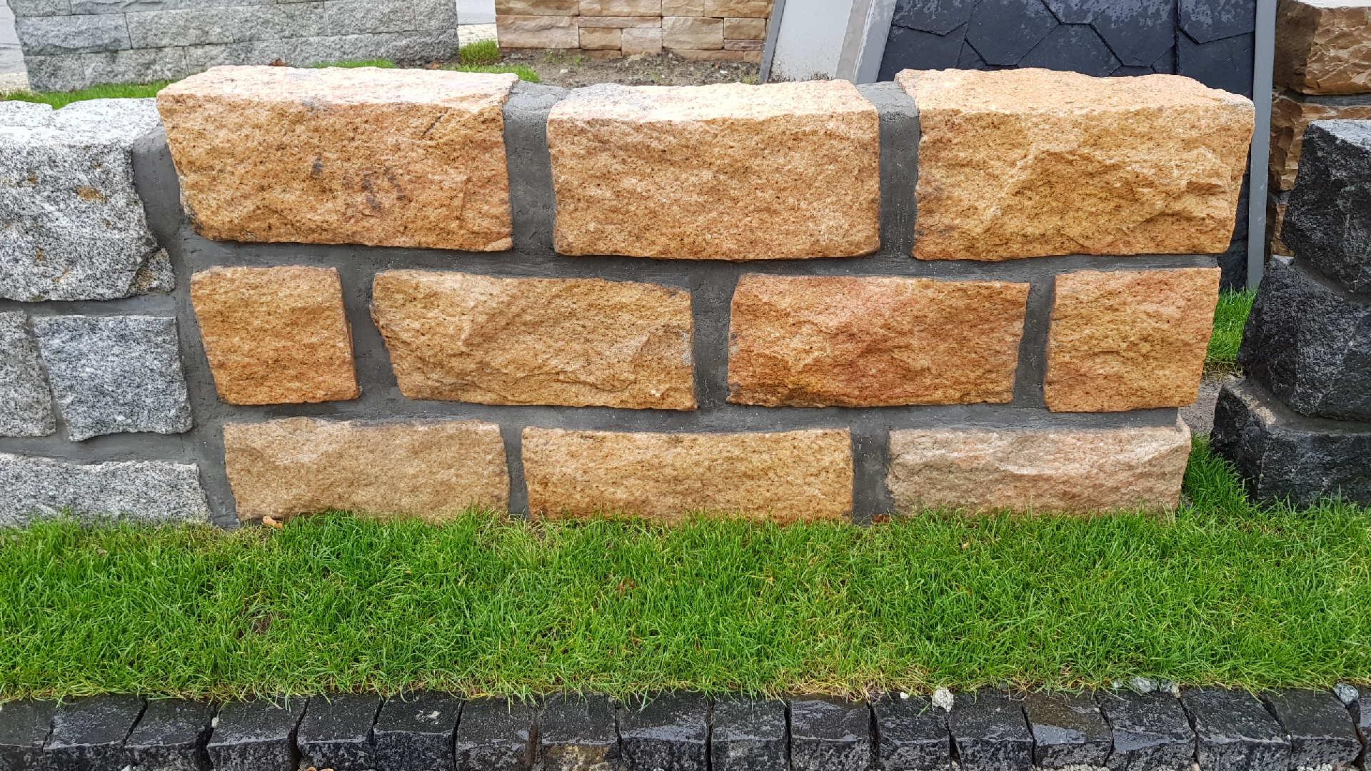 Mauersteine Sunschine Gelb - Granit