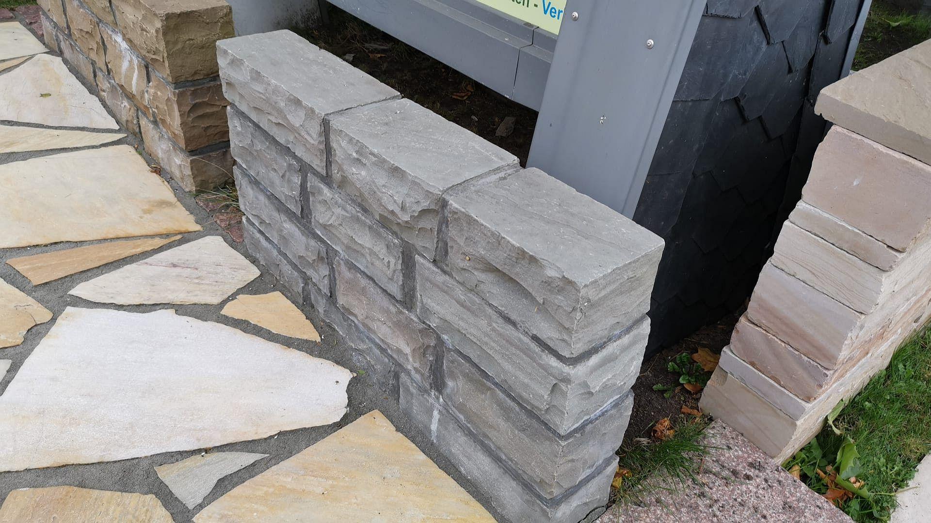 Mauersteine Kandla Grey - Sandstein