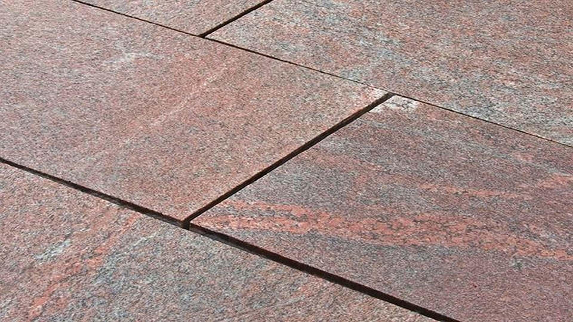 Granitplatten Multicolor Red