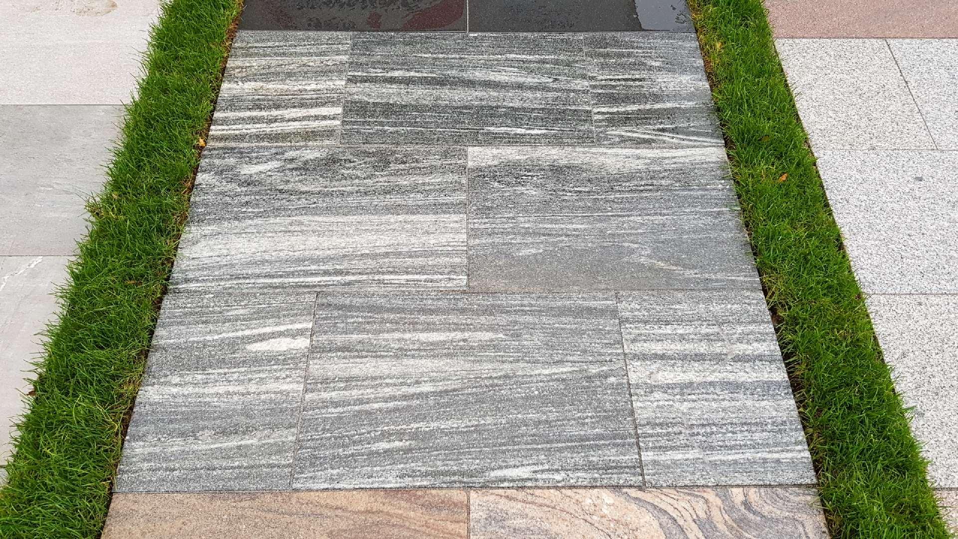 Granitplatten Nordic Cloud-Dunkelgrau