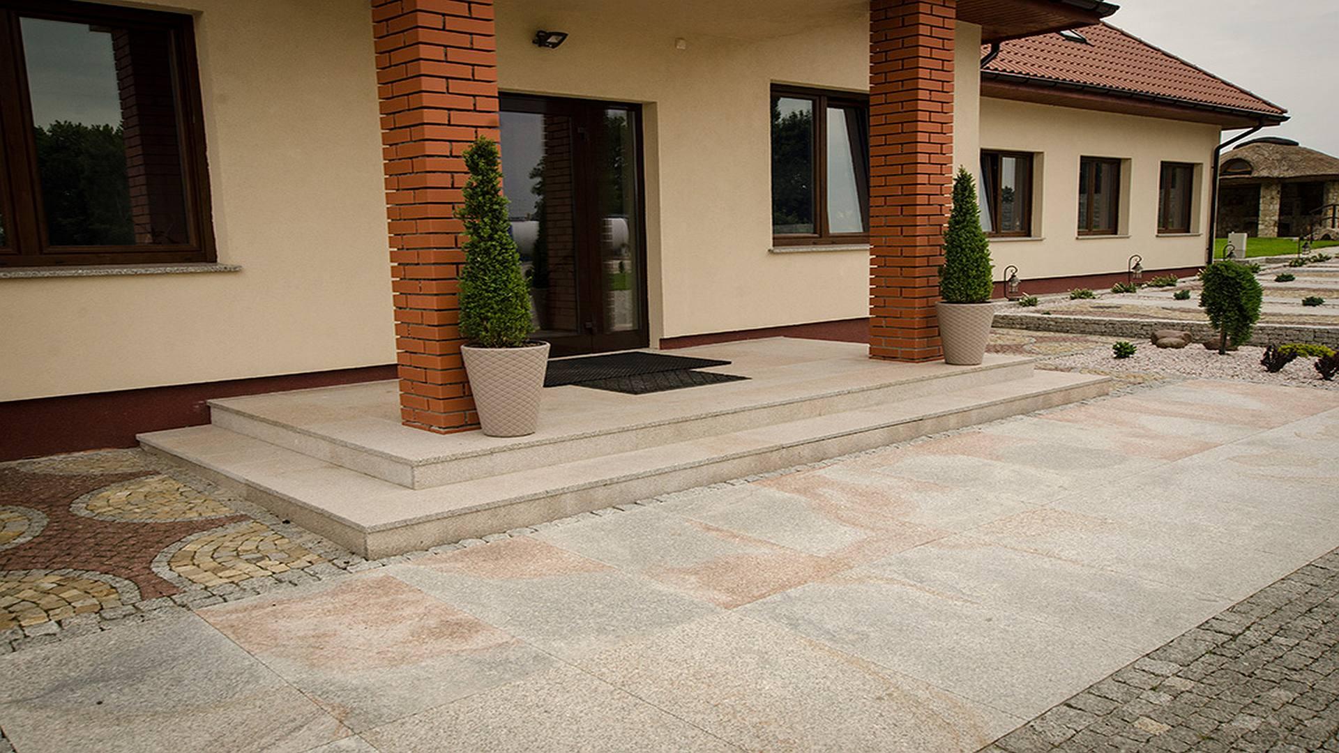 Granitplatten Baltik Antik - Grau-Gelblich