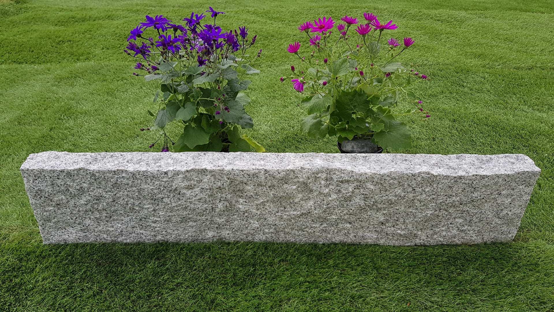 Rasenkanten Granit Grau