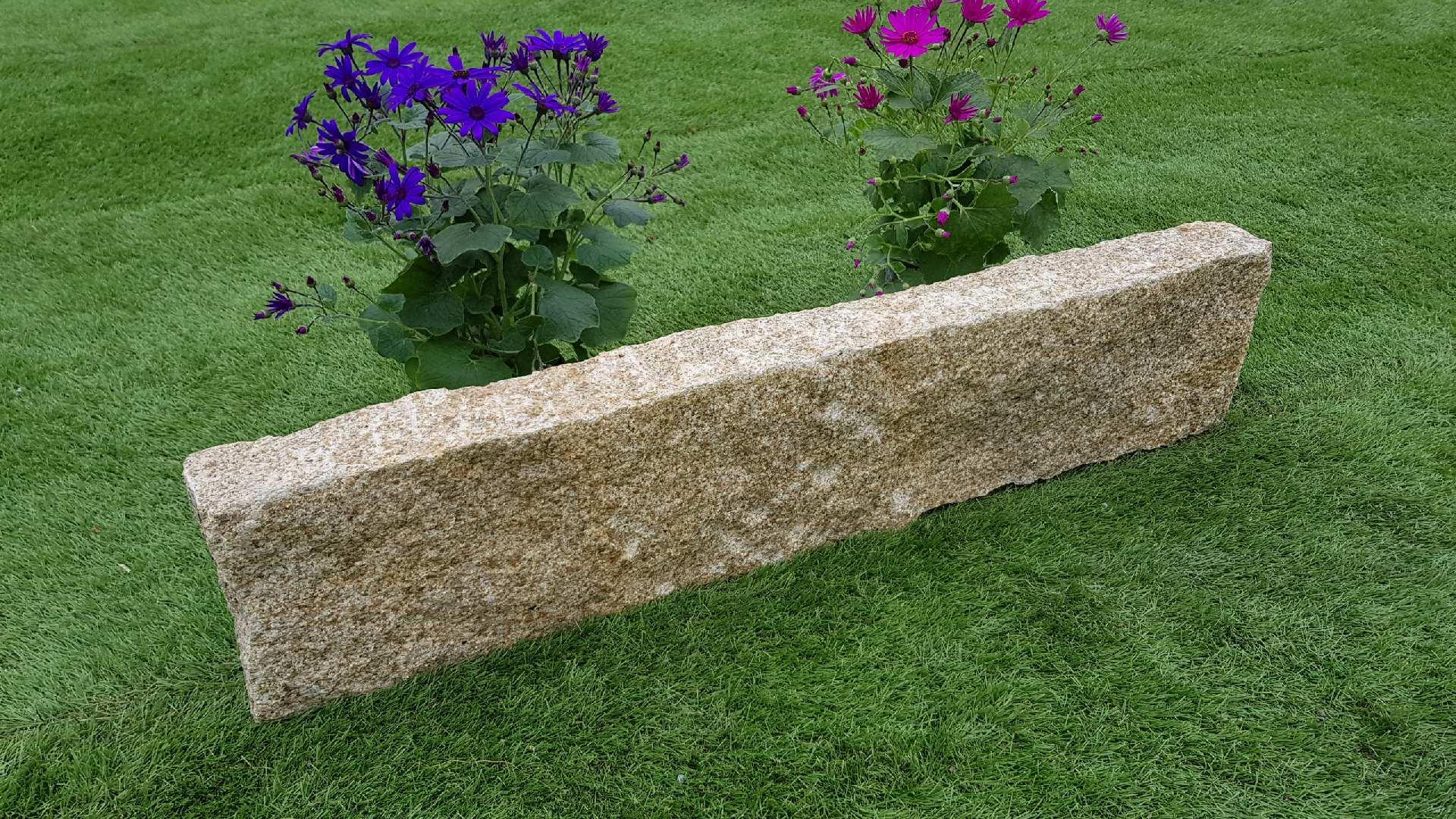Rasenkanten Granit Gelb