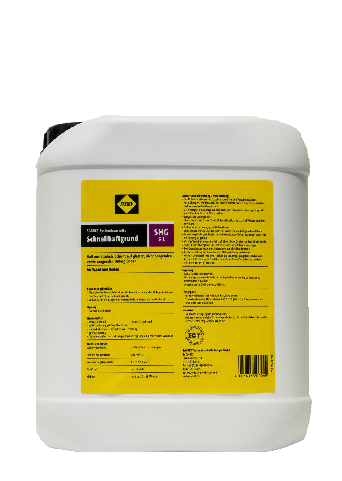 SAKRET Schnellhaftgrund SHG - 5 Liter