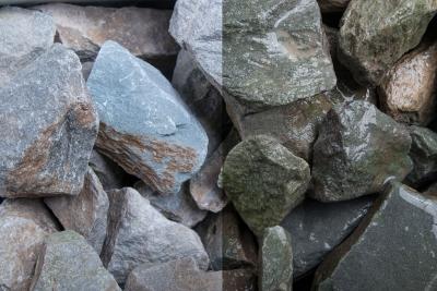 Grauwacke Stein SS, 32-56, Sack 20 kg