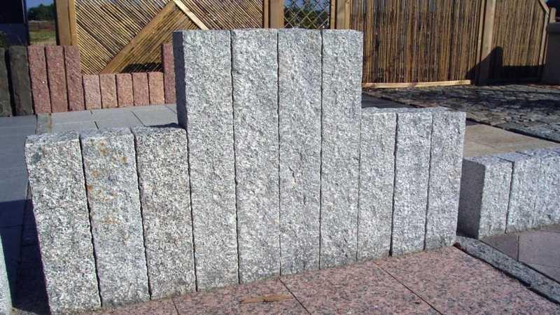 palisaden granit grau 100x12x12 cm. Black Bedroom Furniture Sets. Home Design Ideas