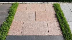 Granitplatten Vanga Rot - 60 x 40 x 3 cm