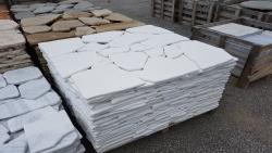 Polygonalplatten Thasos Antik - Weiß - A