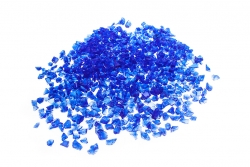 Glassplitt Blue Violet, 5-10, Sack 20 kg