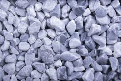 Kristall Blau getrommelt, 25-40, Sack 20 kg