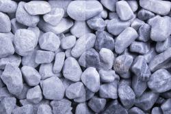 Kristall Blau getrommelt, 40-60, Sack 20 kg