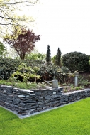 Schiefer schwarz Mauersteine teilweise gespalten, ca. 15-40, Big Bag 500 kg