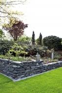 Schiefer schwarz Mauersteine teilweise gespalten, ca. 15-40, Big Bag 1000 kg