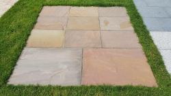Sandsteinplatten Desert HB - Röm. Verband 2,5 cm
