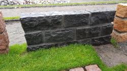 Mauersteine Indisch Schwarz - 35-50 x 15-25 x 15-25 cm