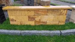 Mauersteine Gold - 40x20x20 cm