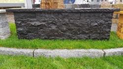 Mauersteine Basalt Schwarz 40 x 20 x 15 cm