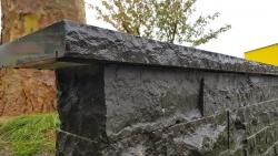 Mauersteine Basalt - Endstücke 40 cm