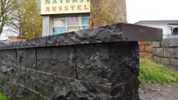 Mauersteine Basalt - Endstücke 20 cm