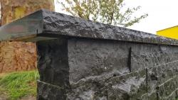 Mauerabdeckungen Basalt 1 x Kopf bo.