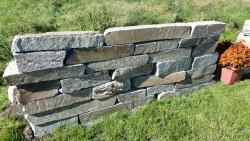 Mauersteine Kavala Grau - Quarzit