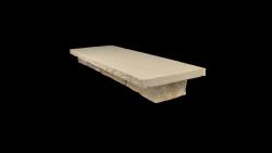 Mauerabdeckplatten Lemon 100x30x3 cm