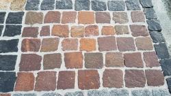 Mosaik Pflaster - Porphyr Rot Braun 4 - 6 cm