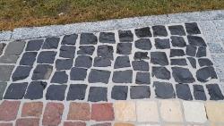 Mosaikpflaster Basalt Schwarz 4 - 6 cm