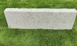 Rasenkante Granit Grau 8 x 20-22 x 90-110 cm