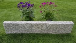 Rasenkante Granit Grau 8 x 25 x 90-110 cm