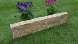 Rasenkante Granit Gelb 8 x 20 x 90-110 cm