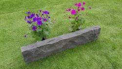 Rasenkante Basalt 6-8x20x60- 100 cm