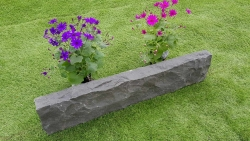 Rasenkante Basalt 8 x 20 x-100 cm