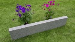 Rasenkante Negra Dunkelgrau 8x25x100 cm