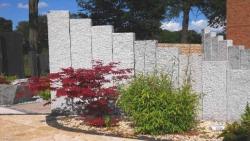 Stelen Granit Grau 75x25x12 cm