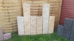 Stelen Granit Gelb 150x25x12 cm