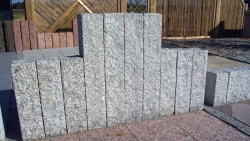 Palisaden Granit Grau 100x12x12 cm