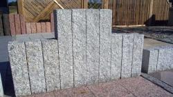 Palisaden Granit Grau 125x12x12 cm