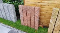 Palisaden Granit Magadi Rot 100x12x12 cm