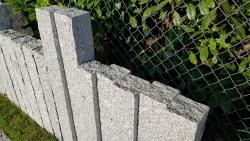 Palisaden DUO - Granit Grau 125x12x12 cm