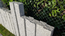 Palisaden DUO - Granit Grau 150x12x12 cm